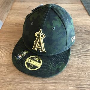 New Era Los Angeles Angels camo Armed Forces hat